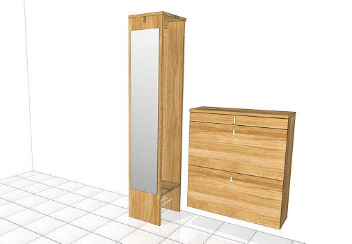 flureinrichtung cubus 1. Black Bedroom Furniture Sets. Home Design Ideas